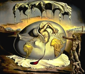 "Salvador Dali's 1943 painting  ""Geopoliticus Child Watching the Birth of the New Man"" - Courtesy of The Dali Museum."