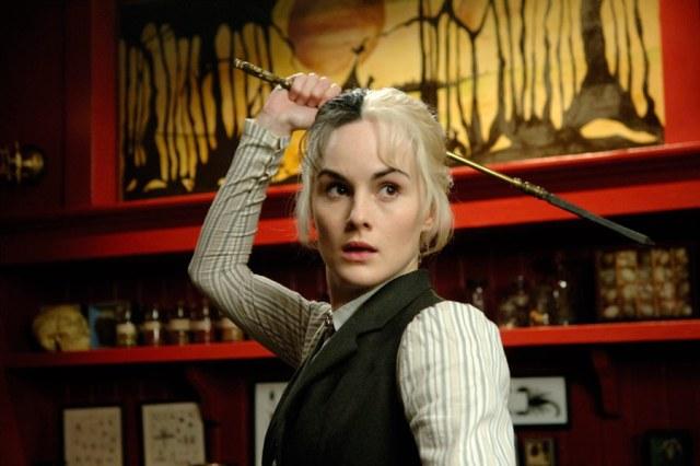 MIchelle Dockery as Death's granddaughter, Susan Sto-Helit, in Terry Pratchett's